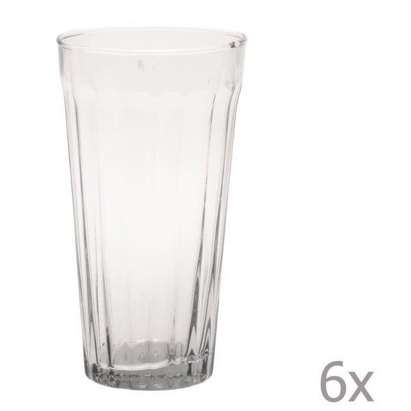 Sada 6 long pohárov Lucca Transparent, 500 ml