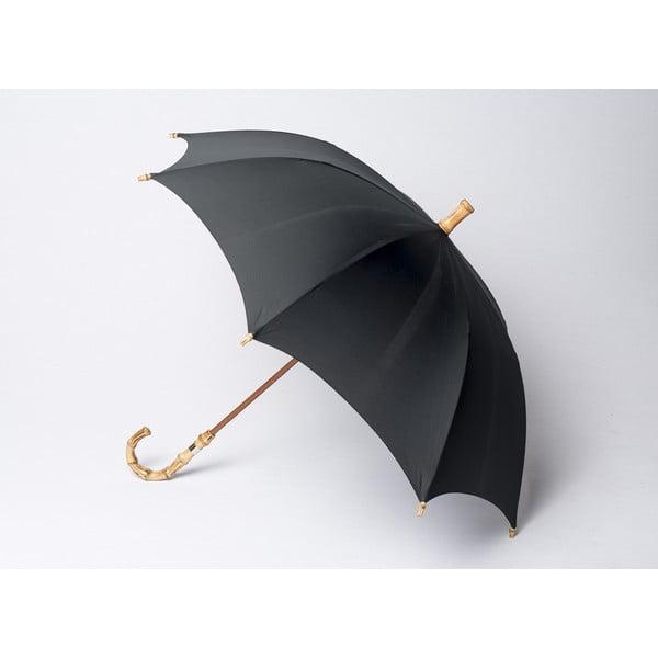 Bambusový dáždnik Gents, čierny