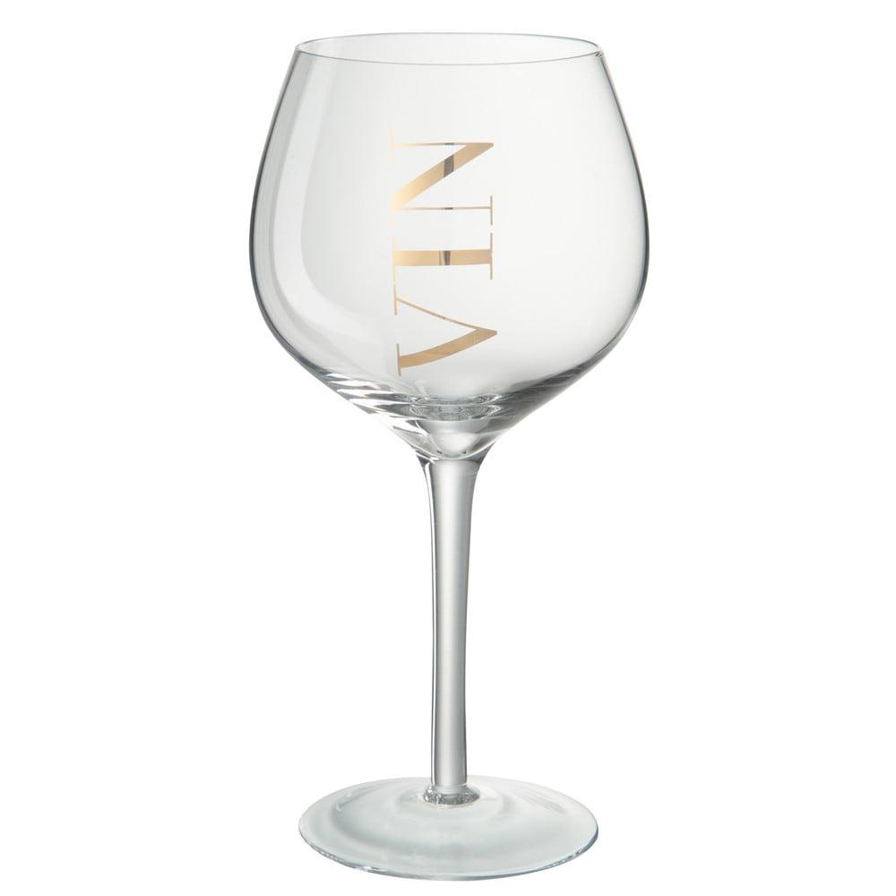 Pohár na červené víno J-Line Gold Elegance