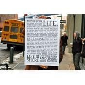Plagát White Manifesto, 61x46 cm