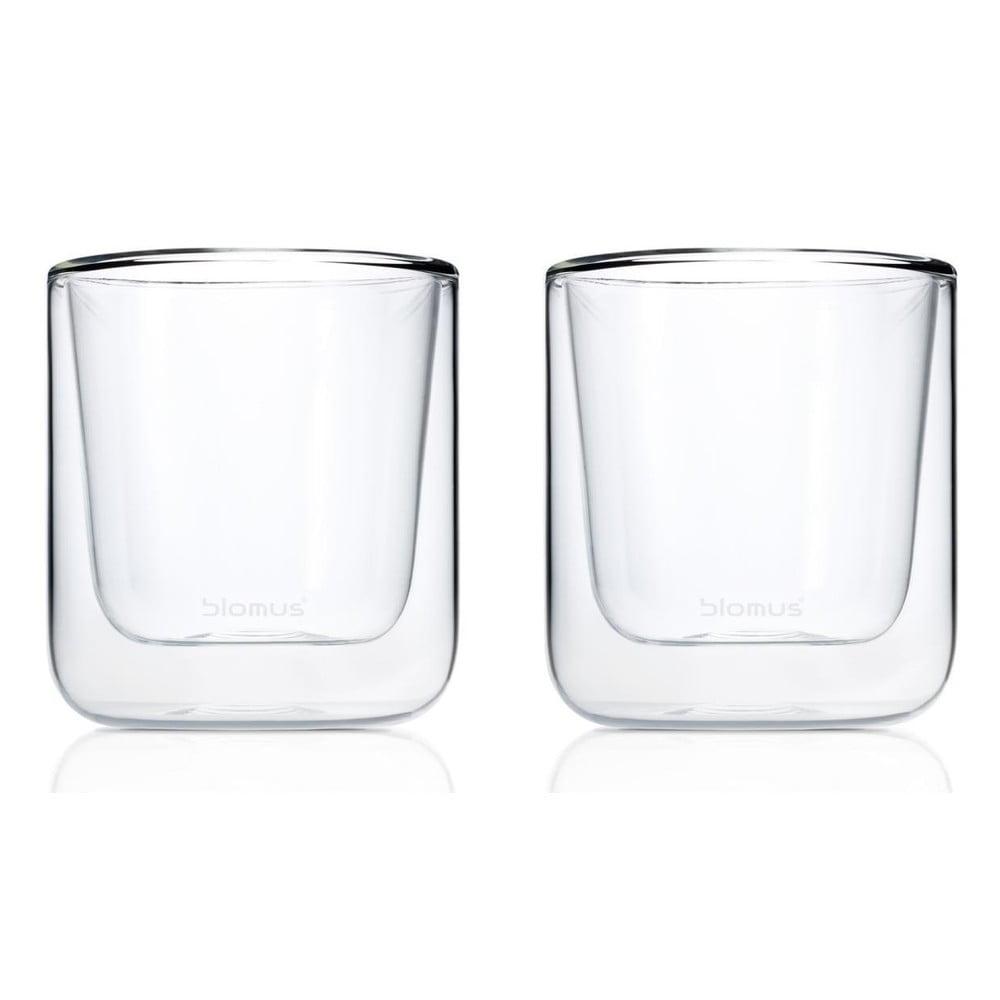 Sada 2 dvojitých šálok na kávu Blomus Nero, 200 ml
