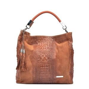 Hnedá kožená kabelka Sofia Cardoni Manu