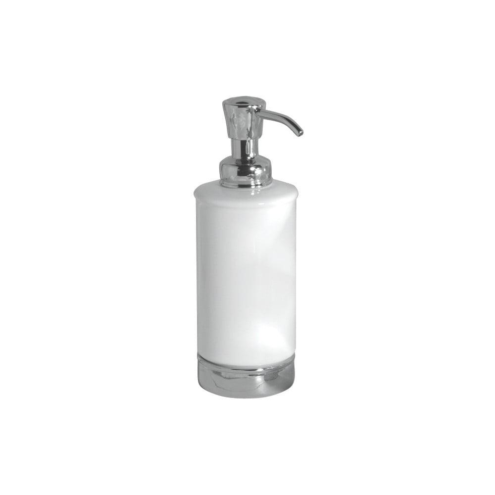 Biely zásobník na mydlo s pumpičkou iDesign York