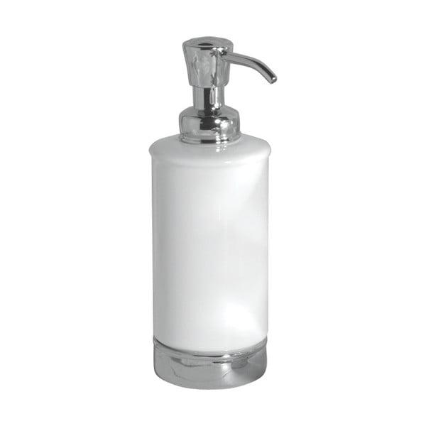 Biely zásobník na mydlo s pumpičkou InterDesign York