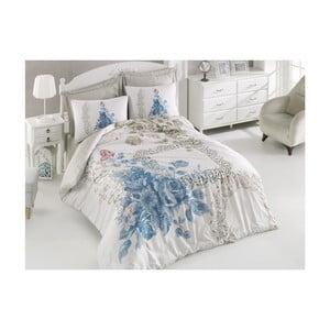 Obliečky z bavlneného saténu s plachtou Define, 200 x 220 cm