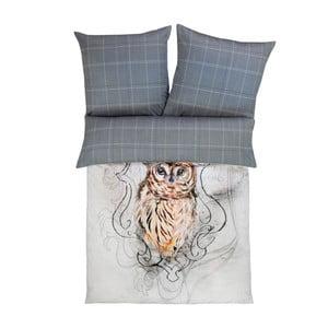Obliečky Zeitgest Satin Owl, 140x200 cm