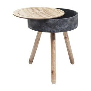 Odkladací stolík s úložným priestorom Kare Design Button