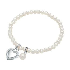 Náramok s bielou perlou ⌀ 8 mm Perldesse Poa, dĺžka 17 cm