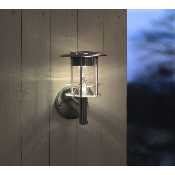 Vonkajšie svetlo Solar Enerfy Wall Lantern Steel