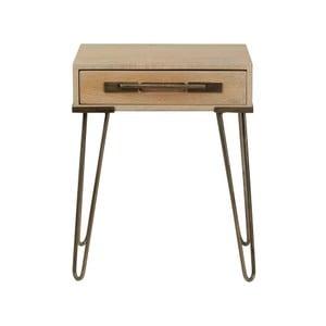 Konzolový stolík z masívneho mangového dreva Woodjam Nevada, šírka 43 cm