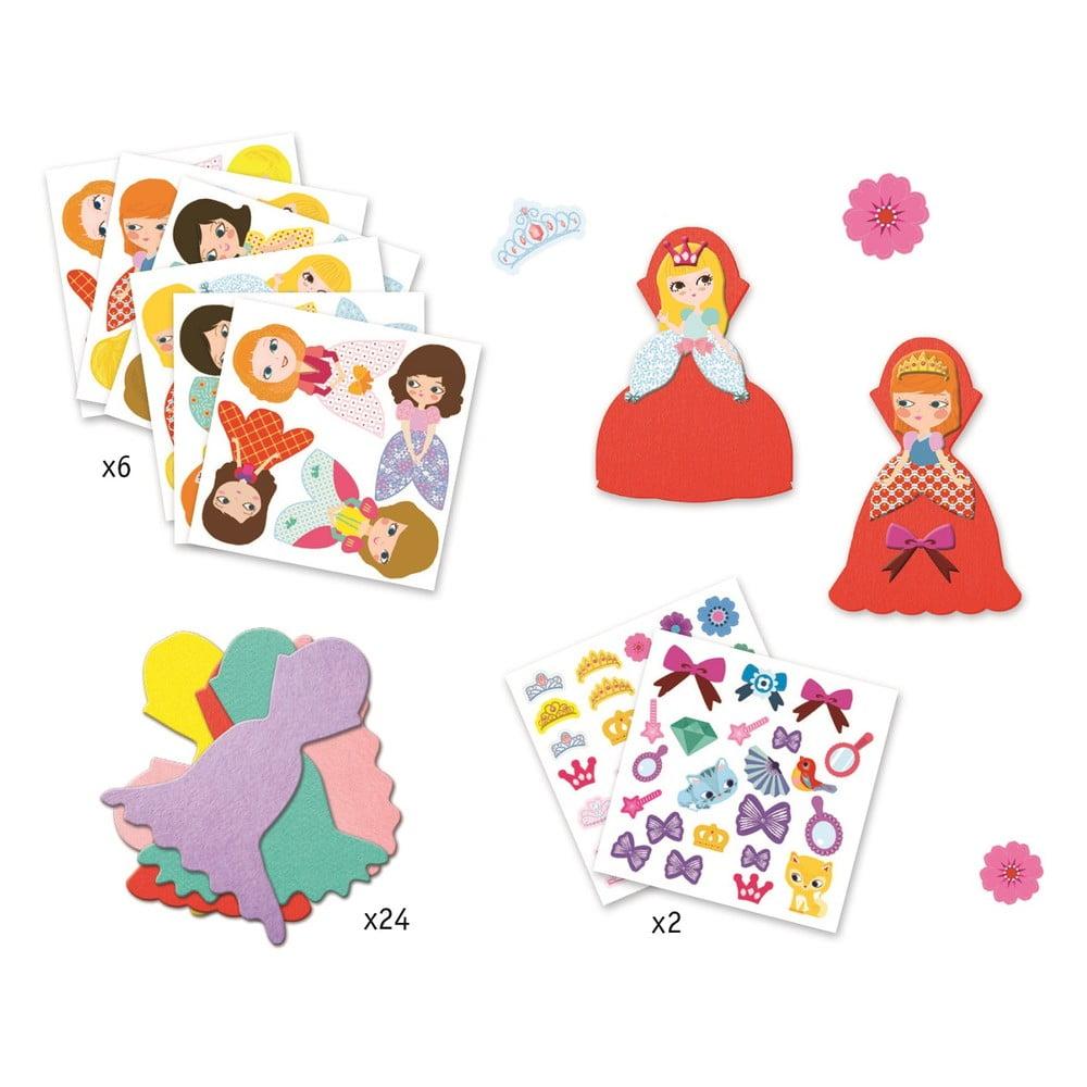 Set detských samolepiek Djeco Princezné