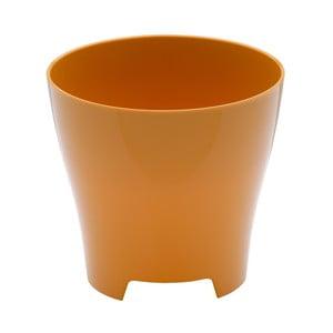 Oranžovožltý kvetináč Plastia Luna Honey, ø17,9 cm
