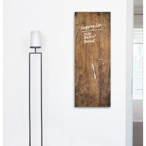 Magnetická tabuľa Used Wood, 30 x 80 cm