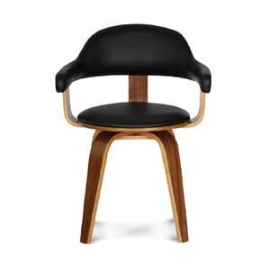 Otočná stolička Suedoise Noire