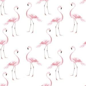 Tapeta na stenu Dekornik Flamingos, 50 x 280 cm