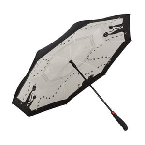 Golfový dáždnik Von Lilienfeld Black Cats FlicFlac