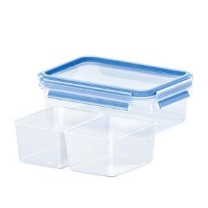 Krabička na potraviny Clip&Close + 2 priehradky, 0.55 l