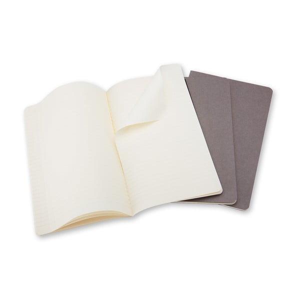 Sada 3 notesov Moleskine Cahier, 13x21 cm