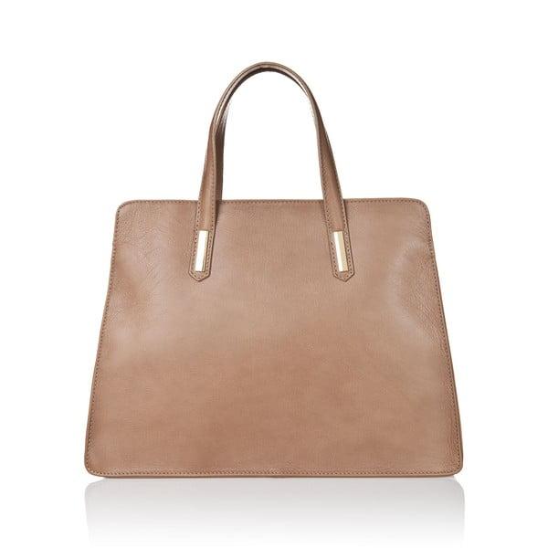 Hnedosivá kožená kabelka Markese Tasia