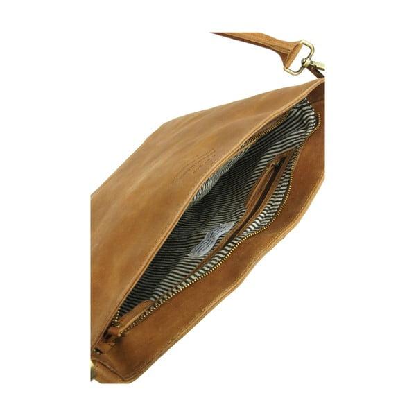 Kožená kabelka O My Bag The Janet, tmavohnedá