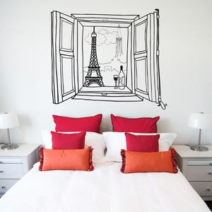 Samolepka Paris window 58x65 cm