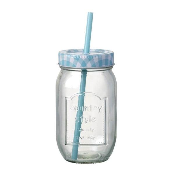 Modrý pohár so slamkou Parlane Country Blue