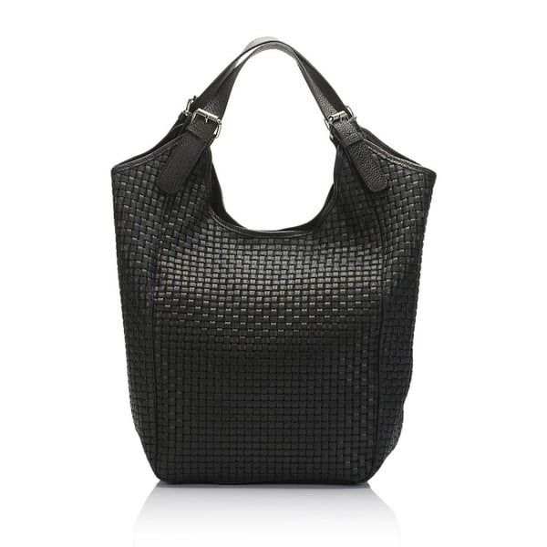 Čierna kožená kabelka Giulia Massari Nidia