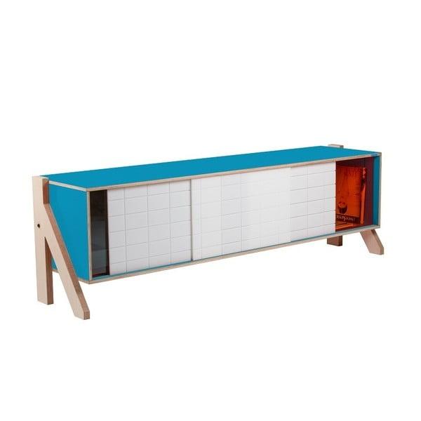Modrá komoda rform Frame, dĺžka165cm