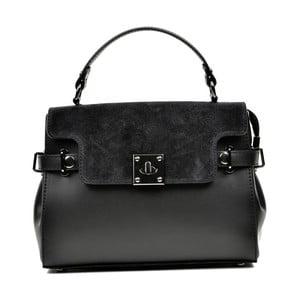 Čierna kožená kabelka Carla Ferreri Monica Lento