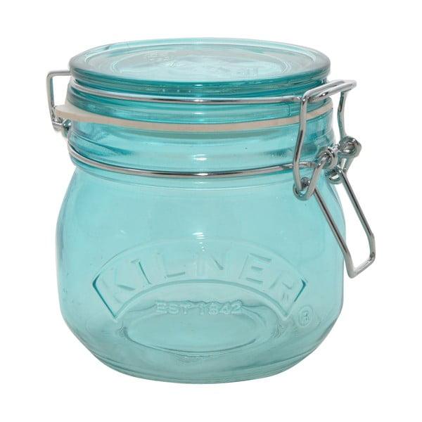 Pohár na suché potraviny s klipom Kilner, 0,5 l, modrá