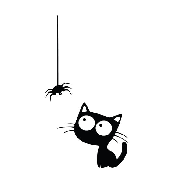 Samolepka Ambiance Cat And Spider
