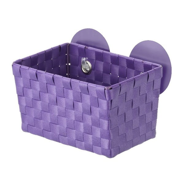 Fialový košík s prísavkami Wenko Fermo