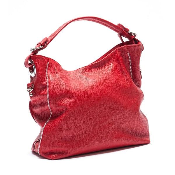 Kožená kabelka Mangotti 1139, červená