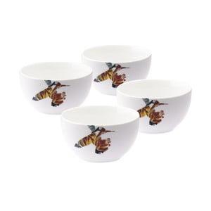 Sada 4 porcelánových misiek Flutter, 12 cm