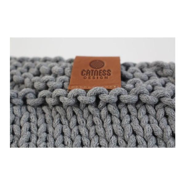 Pletená kabelka Catness, tmavosivá, 35x38 cm