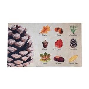 Rohožka s dizajnom listov a plodov Esschert Design, 45,4 × 75 cm