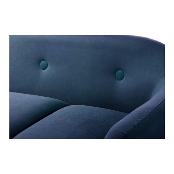 Pohovka Stella Navy Blue s leňoškou na ľavej strane