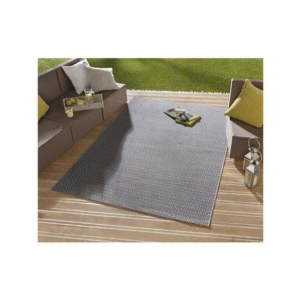 Modrý koberec vhodný aj do exteriéru Hanse Home Meadow, 140x200cm