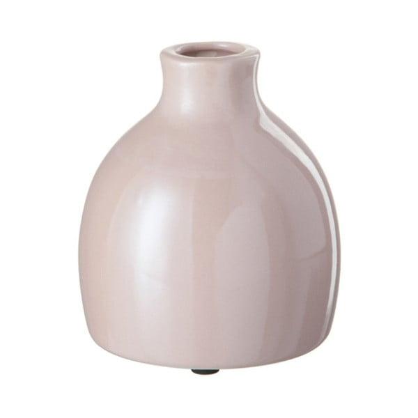 Ružová kameninová váza J-Line, 12x12x13 cm