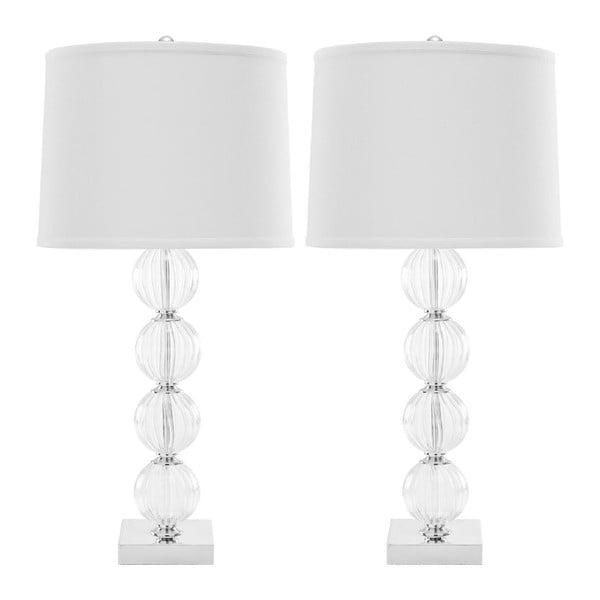 Sada 2 stolových lámp s bielym tienidlom Safavieh Giulia