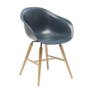 Tmavomodrá jedálenská stolička Kare Design Forum Object