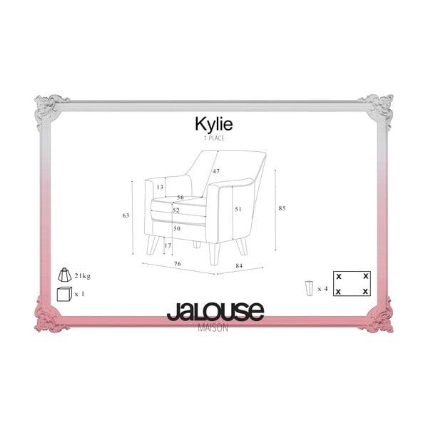 Kreslo Jalouse Maison Kylie, krémová