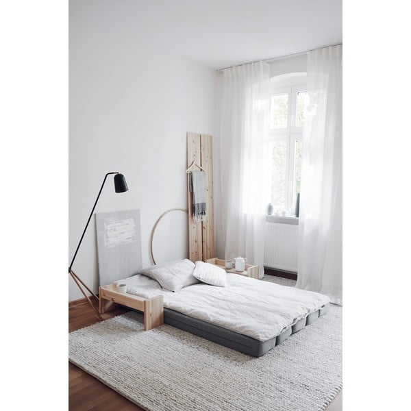 Svetlosivá rozkladacia pohovka Karup Design UMU Daybed Natural/Granite Grey