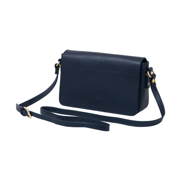 Tmavomodrá kožená kabelka Andrea Cardone Nicol