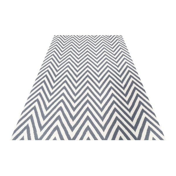 Vlnený koberec Zig Zag Grey, 240x155 cm