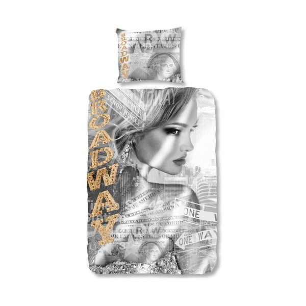 Bavlnené obliečky Muller Textiels Broadway Girl, 135 x 200 cm