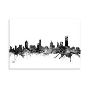 Plagát Americanflat Melbourne Skyline, 42 x 30 cm