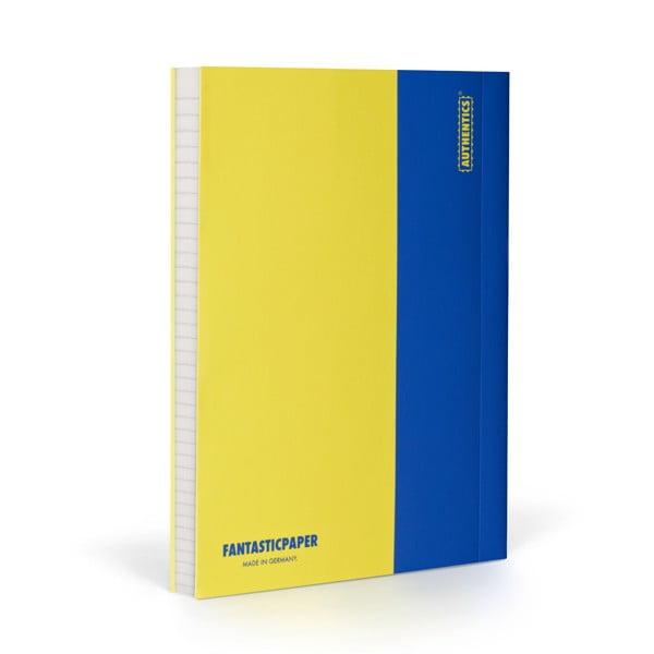 Zápisník FANTASTICPAPER A5 Lemon/Blue, riadkovaný