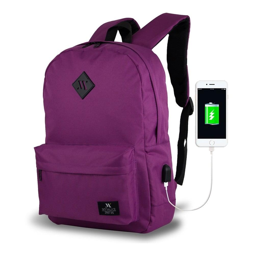 Fialový batoh s USB portom My Valice SPECTA Smart Bag