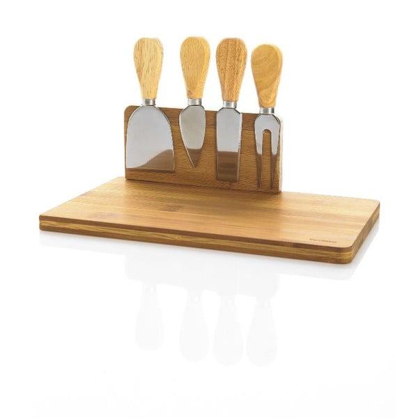 Bambusový set na servírovanie syra Bambum Castell